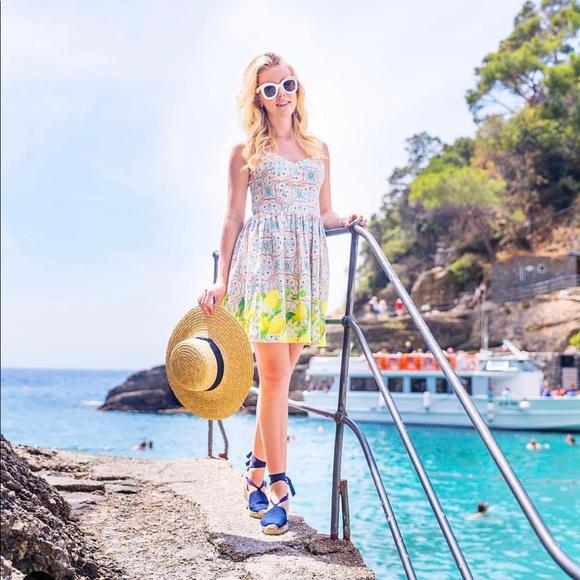 Amanda Uprichard Dresses & Skirts - Amanda Uprichard floral and lemon dress